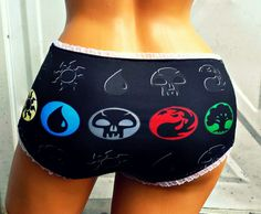 Magic Mana symbols Panties Lingerie underwear MTG