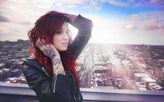 wonderful tattooed girl wallpaper