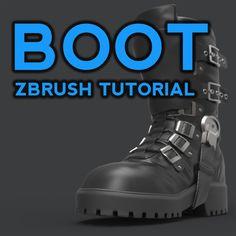 Boot ZBrush Tutorial, Michael Pavlovich on ArtStation at https://www.artstation.com/artwork/Ogd3y