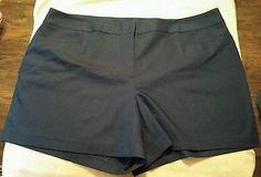 Lane Bryant Plus Size Navy Blue Dress Shorts, Size 26 Inseam 5' NWOT