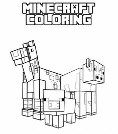 Chevy Minecraft Colouring Pages