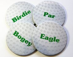 Items similar to Hand Painted Golf Ball Golfer Gift Golf Cart Party Favor on Etsy