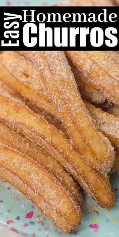 Easy Homemade Churros - Crispy on the outside and soft tender on the inside Classic churros recipe churros churrorecipes churrosrecipe mexicanfoodrecipes goodfood churro homemade Authentic Mexican Recipes, Easy Baking Recipes, Cooking Recipes, Beach Food Recipes, Sauce Recipes, Easy Pastry Recipes, Penne Recipes, Puff Pastry Desserts, Easy Desert Recipes
