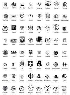List of Gold Maker Marks | also this link is great for more... http://swisswatchguy.blogspot.com ...