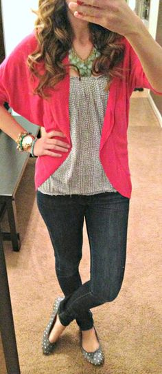 Top: Old Navy Sweater: Target Pants:  7 for all mankind Shoes: Old Navy Necklace: Forever21