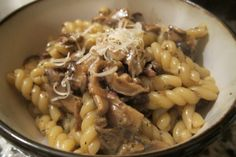 Gemelli with mixed mushrooms and thyme