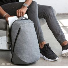 Backpacks Tigernu Brand Cool Urban Backpack Men Unisex Light Slim Minimalist Fashion Backpack Women Laptop Backpack school bag This is an AliExpress affiliate pin. Detailed information can be found on AliExpress website by clicking on the image Minimalist Bag, Minimalist Fashion Women, Black Women Fashion, Grey Fashion, Mens Fashion, Hipster Fashion, Laptop Rucksack, Men's Backpack, Fashion Backpack