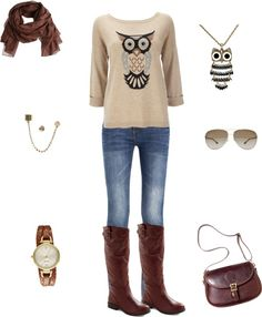 """""""owls everywhere"""" by emilly101fasion ❤ liked on Polyvore"""