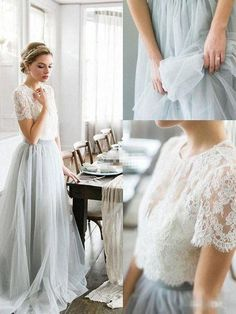 Lace Wedding Dresses that will wow - Attractive ways to plan a more than satisfying fashion. elegant lace wedding dresses skirt shown on this creative day 20190210 #laceweddingdresses #laceweddingdress #elegantlaceweddingdressesskirt Wite Prom Dresses, Tulle Skirt Bridesmaid, Prom Dresses With Sleeves, Cheap Prom Dresses, Cheap Wedding Dress, Dresses For Teens, Wedding Dresses, Dress Prom, 2 Piece Bridesmaid Dress