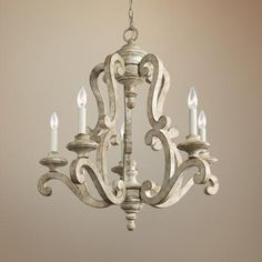 """Kichler Hayman Bay 28"""" Wide Antique White Chandelier-  like everything about it.  similar pendant -"""