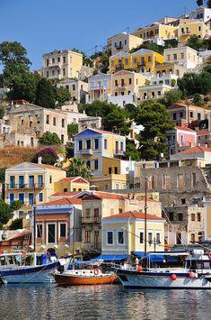 Symi Island Harbour, Greece
