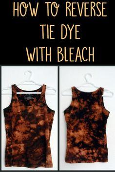 reverse tie dye with bleach #tiedye #bleachdye #tiedyebleach #dyeclothing #tiedyeshirt #blackshirtdye #bleachpen #diybleachpen #spraybleachdye #bleachdyepatterns #bleachpatterns
