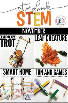 November/Thanksgiving Storybook STEM provides weekly all-in-one units to cover essential skills in comprehension, vocabulary, grammar, math, science,