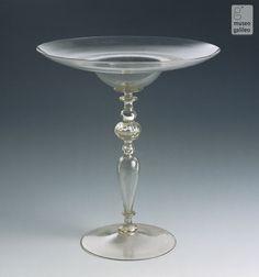 Chalices (Inv. 104, 105), Tuscany, c. 17th century Murano Glass, Venetian Glass, Diamond Brooch, Art Deco Diamond, Wine Glass, Glass Art, Art Decor, Decoration, Bone Crafts