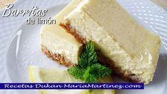 Postres Dukan: Barritas de limón, postre apto para fase Ataque