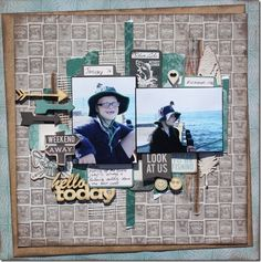 'Outdoor Trail' is one of the 3 Kaisercraft ranges in store at Anna's Craft Cupboard for August. If you love camping, hiking fishing and e. Scrapbook Page Layouts, Scrapbook Pages, Craft Cupboard, Project Ideas, Projects, Trail, Camping, Sea, Boating