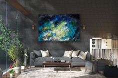 Large Abstract Artwork,Large Abstract Painting,bright painting art,modern abstract,palette knife art,textured wall art FY0098