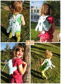 Carrot style: Детский рюкзак-заяц.