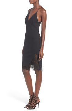 This black lace body con dress is the perfect LBD to wear for a special date night.