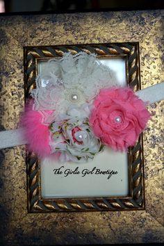 Baby Girl Headband  Infant headband  Newborn by girliebowtique, $14.00