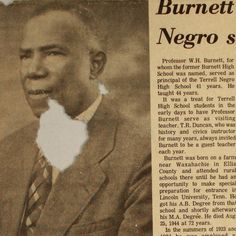 W H Burnet was the 20th President of the Colored Teachers State Association of Texas