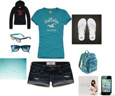 """Hollister outfit"" by youngerica on Polyvore"