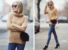 Fuzzy sweater & jeans (via Bloglovin.com )