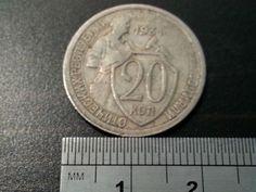 c. 1931 coin 20 twenty kopeks Russia Rusland Russie USSR