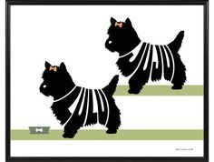 Personalized print of 2 terriers – Boston, Yorkshire, Jack Russell, Wheaten, West Highland, Bull Terrier or Norwich Terrier – ElainesPrints on Etsy Top Dog Names, Popular Color Schemes, Norwich Terrier, Dog Silhouette, Dog Memorial, Boston Terriers, Bull Terriers, Jack Russell Terrier, Dog Art