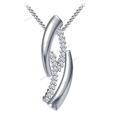 "Prong Setting Round Cut Diamond Womens Fancy Design Pendant 18"" Chain Free Pouch…"