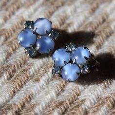 Vintage  baby blue clip on earrings Blue clip ons Jewelry Earrings