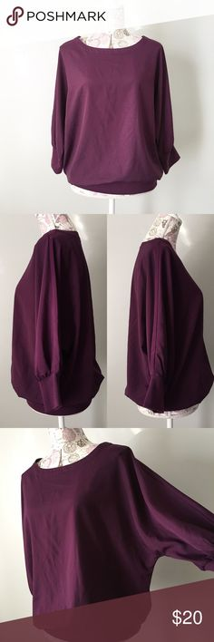 The Limited Purple Dolman Top The Limited Purple Dolman top. Elastic waist. Perfectly pairs with leggings, flats and some statement jewelry.  Size small The Limited Tops Blouses