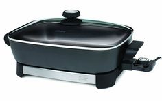 Oster CKSTSKFM05 16-Inch Electric Skillet, Black and Stainless Steel -- Read more  at the image link.