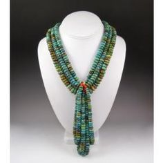 Multi-Strand Turquoise Necklace with Jacla by Federico