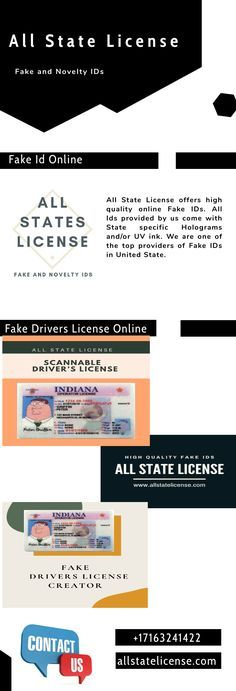 Are you looking for the high quality fake IDs at affordable prices? All State License will provide excellent fake ids . Driver License Online, Driver's License, South Dakota, South Carolina, Real Id, Hologram, School Projects, Save Yourself, Things To Come