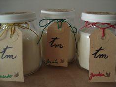 Velas de cera de soja de jazmín, gardenia y nardo