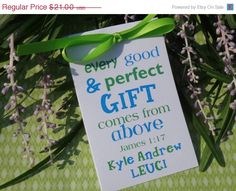 ON SALE Every Good & Perfect GIFT Baby Boy Baptism by SuLuGifts, $18.90