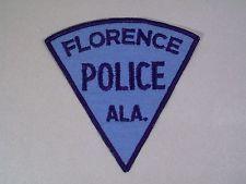 FLORENCE ALABAMA VINTAGE POLICE DEPARTMENT SHOULDER PATCH