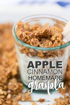 This Apple Cinnamon Homemade Granola from @spaceshipslb is so delicious and easy to make!