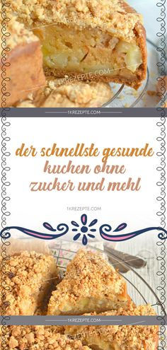 Der schnellste gesunde Kuchen ohne Zucker und Mehl Zuckerfreie Kuchen- und Torten-Rezepte – Cake The fastest healthy cake without sugar and flour Sugar-free cake … Fall Desserts, Health Desserts, Healthy Cake, Healthy Snacks, Healthy Sugar, Healthy Recipes, Curry D'aubergine, Desserts Sains, Cake Recipes