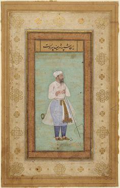 Portrait of Sharif, from the Salim Album Portrait Art, Portraits, Sufi Saints, Last Emperor, Indian Artwork, Islamic Paintings, Medieval Manuscript, 18th Century, Persian