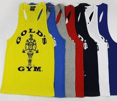 Golds Gym SInglets - Super Special! $15.00 AUD each at www.BuildYourEmpire.com.au  Worldwide delivery!