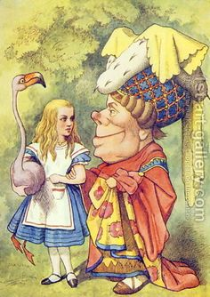 Google Image Result for http://www.1st-art-gallery.com/thumbnail/188603/1/Alice-With-The-Duchess,-Illustration-From-Alice-In-Wonderland-By-Lewis-Carroll-1832-9.jpg