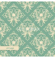 Damask wallpaper vector by Emila904 on VectorStock®