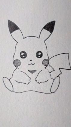 Easy Disney Drawings, Disney Drawings Sketches, Cute Easy Drawings, Cute Cartoon Drawings, Art Drawings Sketches Simple, Kawaii Drawings, Animal Drawings, Cartoon Art, Drawings Of Cartoon Characters