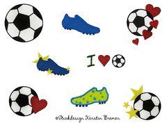 Fußball Stickmuster Set - Stickdesign Kerstin Bremer