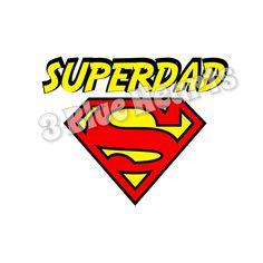 Superdad svg dxf pdf studio jpg png by 3BlueHeartsDesign on Etsy