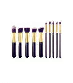 BS-Mall Premium Synthetic Kabuki Makeup Brush 10-Piece Set, $13 #products