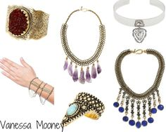 VANESSA MOONEY (Inspirational): The worldwide famous jewelry designer Vanessa Mooney creates fantastic pieces inspired by the Native American and Western cultures. There's room for everyone: for the free-spirited woman who loves music festivals and layering different pieces of jewelry, but also for the more reserved one who can get rid of her inhibitions by only wearing one of them. I love the crystal necklace and bracelet, the handpiece, as well as the sapphire stone necklace.