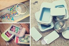 Cute shaped tins.  Perfect for gift giving!